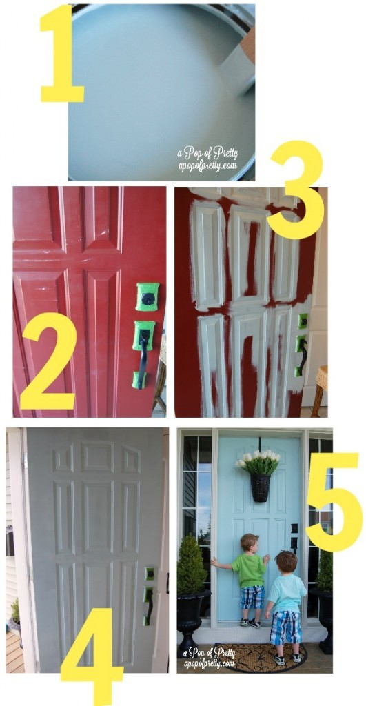 how to paint a front doorHow to paint a door in under an hour The Harried Moms Guide to