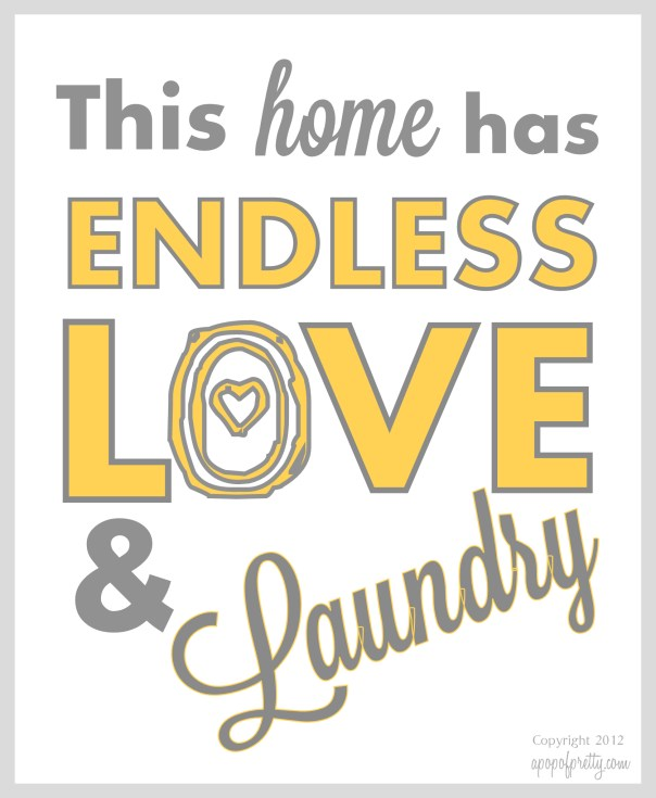 Decoration for Laundry Room