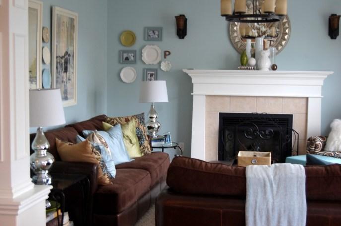 Benjamin Moore Woodlawn Blue room