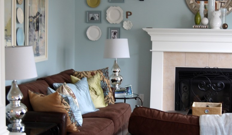 Benjamin Moore Woodlawn Blue & The Evolution of Our Living Room