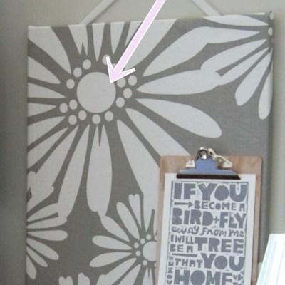 Trick for a Pretty, DIY Fabric-Covered Bulletin Board (Cork Board)