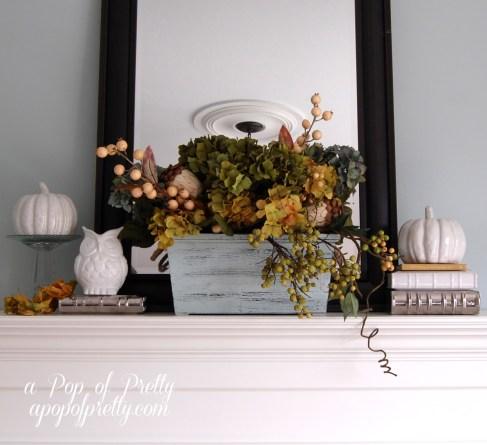 Fall decorating - mantel