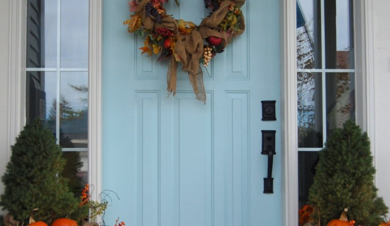 My Two Tries at Fall Door Decor (Fall Wreaths)