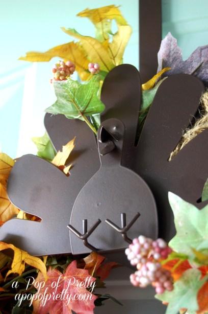 Fall decorating ideas - turkey wreath hanger