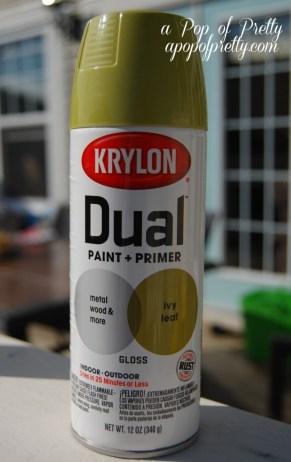 DIY makeover with Krylon Ivy Leaf