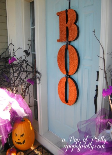 Boo letters Halloween decorating