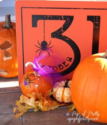 rhinstone embellished pumpkin