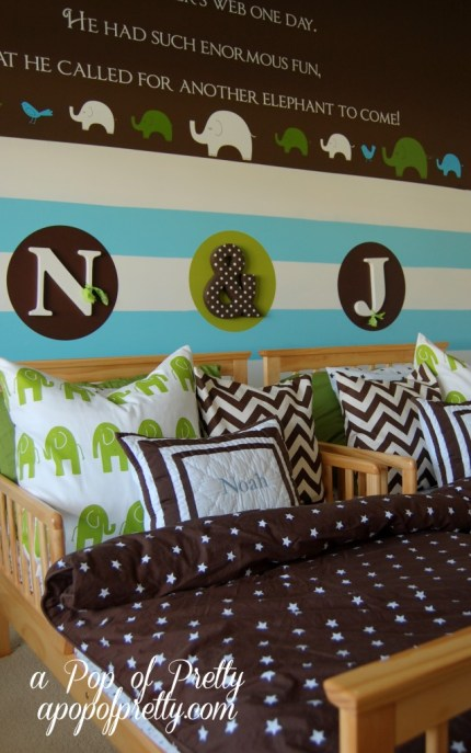 Wall quote twin toddler room