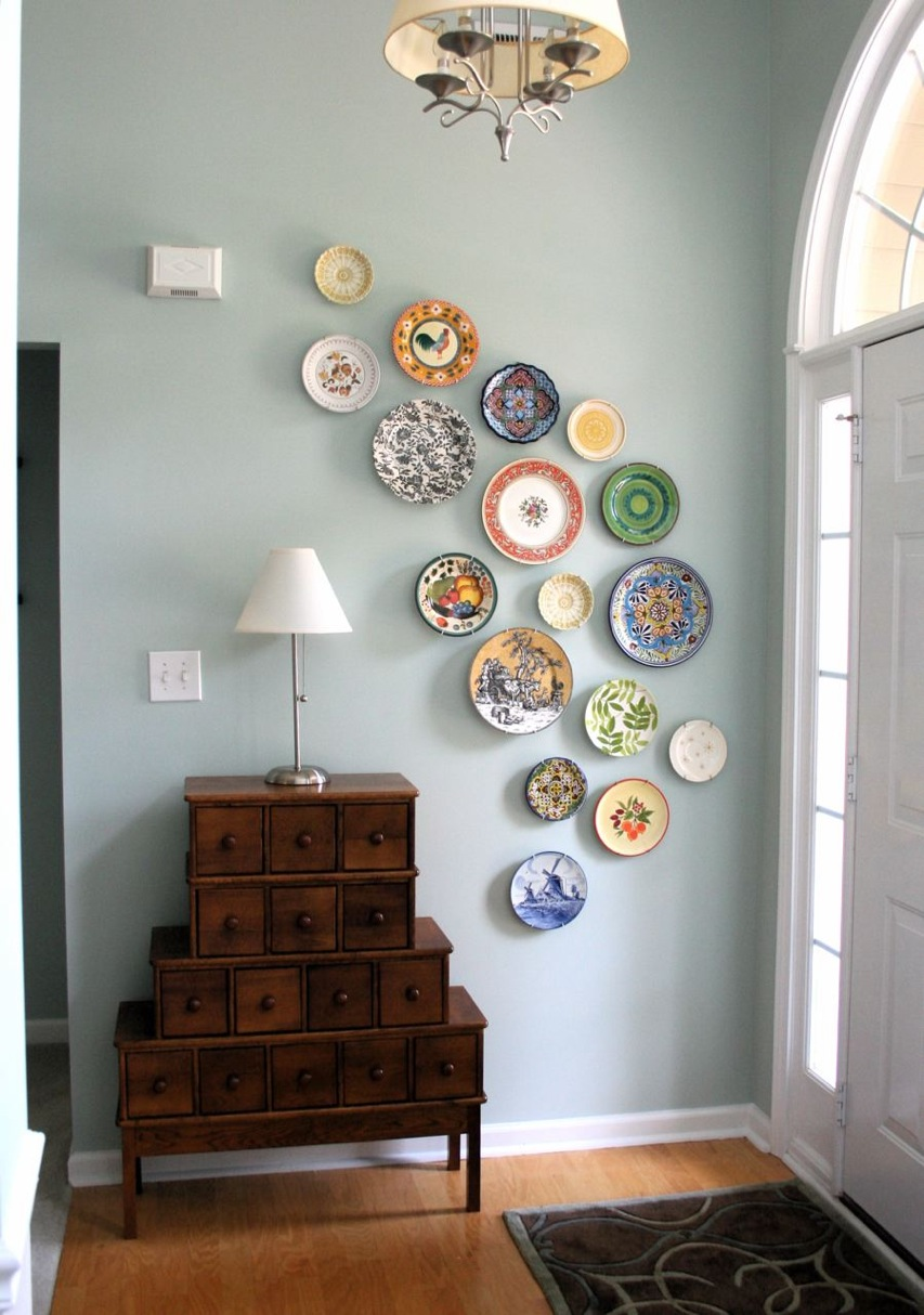Plate Wall Art Diy Wall Art From Plates  A Pop Of Pretty Blog Canadian Home