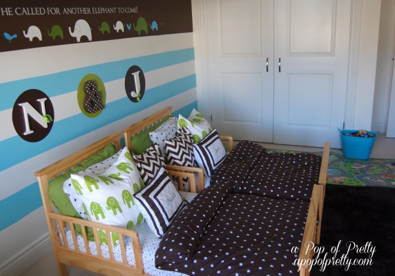 horizonal painted stripes on wall
