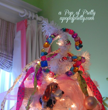 Blinged out Monogram tree topper