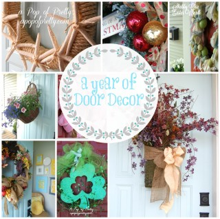A Year of DIY Wreaths / Door Decor {How to make a wreath for any season}