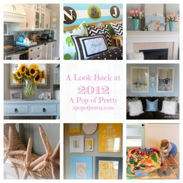 A Year of DIY Decorating Projects: A Look Back at 2012!