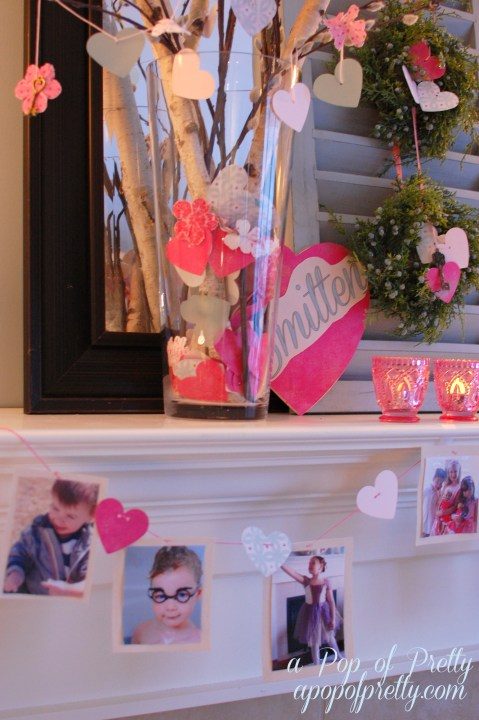 DIY Valentines Day Mantel