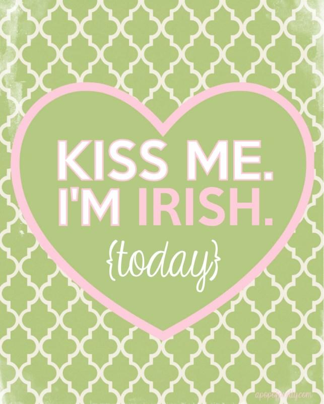 St Patricks Day Kiss me I'm Irish printable 2013-300dpi