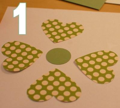 make a shamrock - step 1