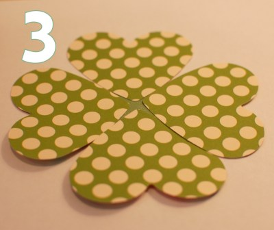 make a shamrock - step 3