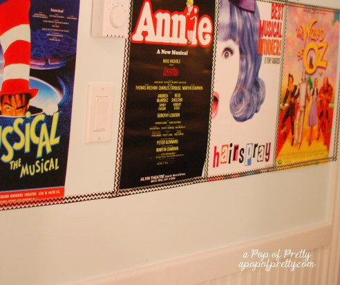 Broadway poster decor