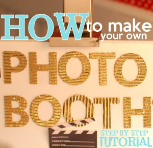 Easy do-it-yourself photo booth - how to make (tutorial)!