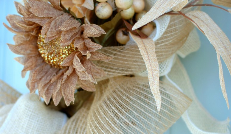 Fall Wreath Time! (My New Wreath: Texture vs Color)