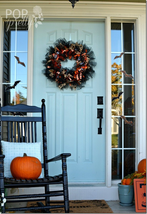 DIY Halloween Ribbon Wreath 2