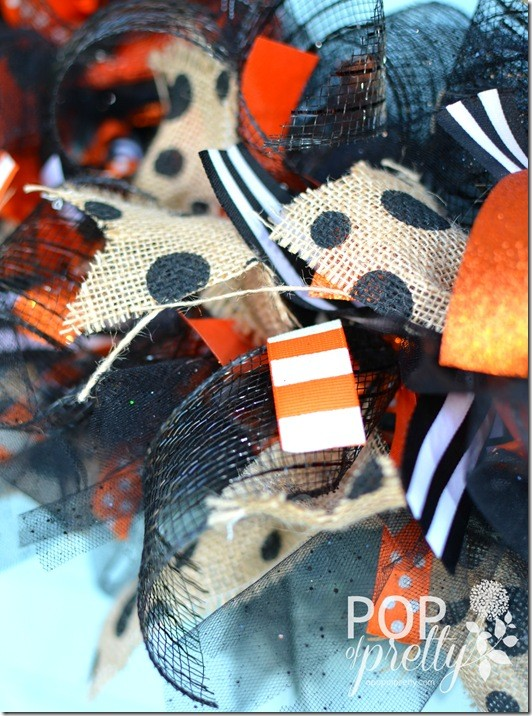 DIY Halloween Ribbon Wreath 3