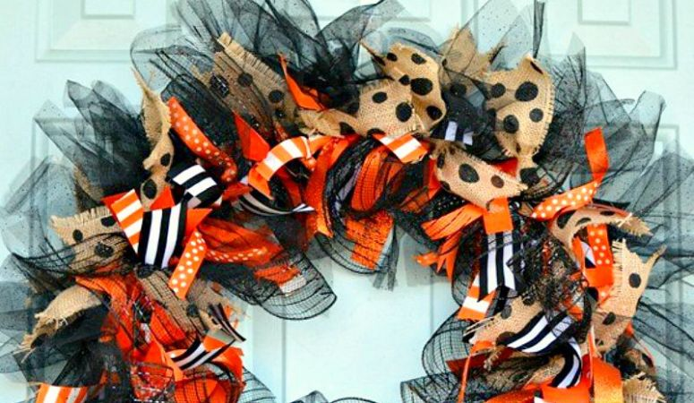 Halloween Whimsy: DIY Ribbon Wreath
