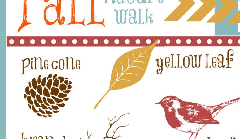 Nature Walk Printable {Fun Fall Activity for Kids}