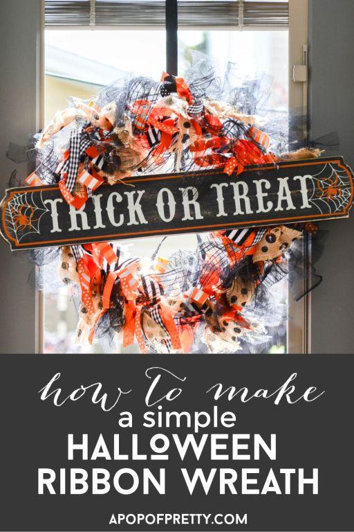 DIY Ribbon Wreath for Halloween