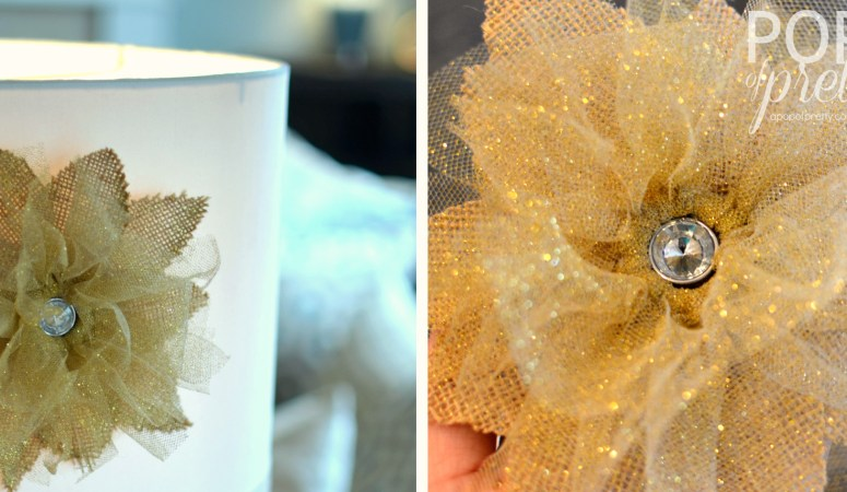 The Etsy.com Blog & Me : DIY Hostess Gift Tutorial {Lampshade Flower}