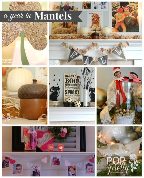 a year in mantel decorating 2013