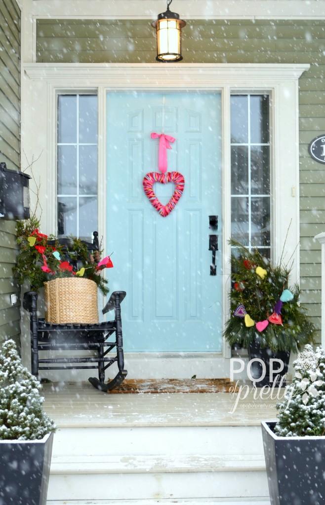 Valentines ideas front porch 2014
