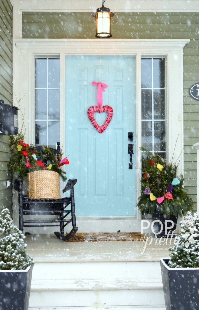 Valentines ideas front porch 2014