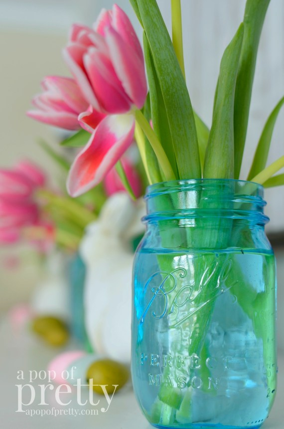 Easter decorating - mason jar