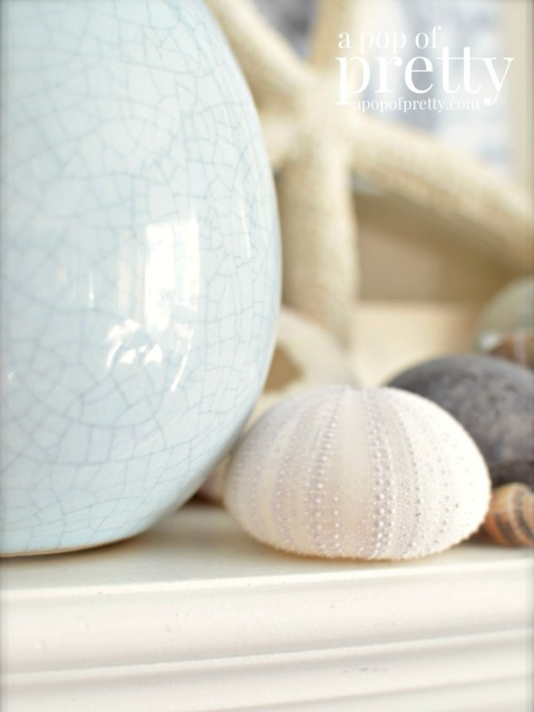 Summer Beach Mantel Decor 1
