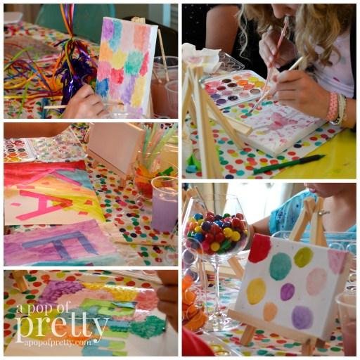 art theme birthday ideas - activities