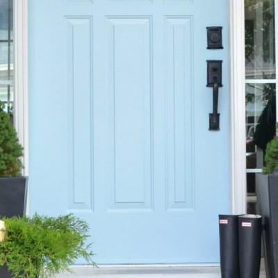 Behr Marquee Dayflower: Front Door Update