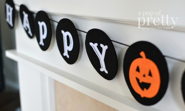 Kid friendly Halloween decorating ideas - banner