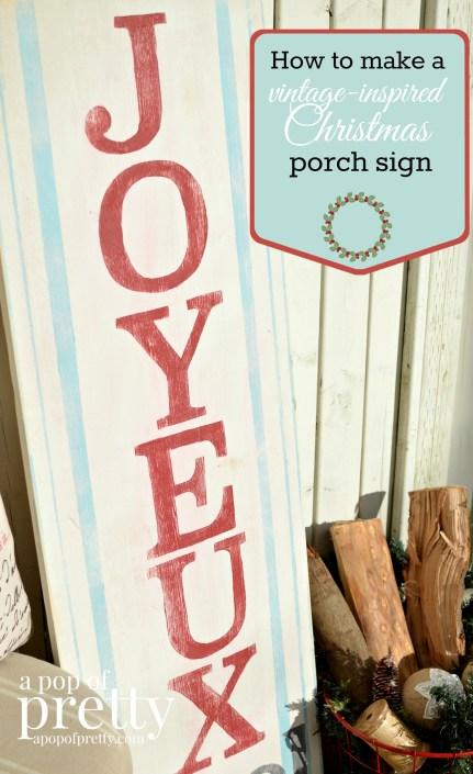 Joyeux Noel Porch Sign