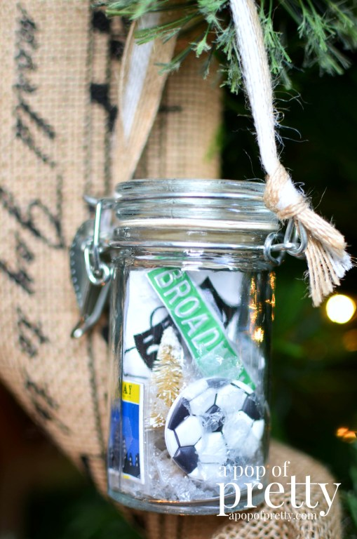 Personalized DIY Christmas Ornament jars