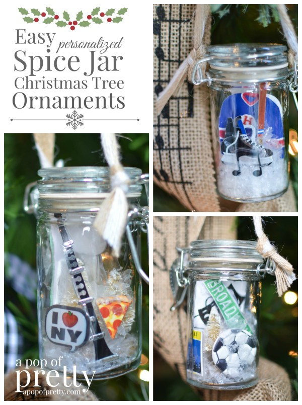 DIY Personalized Christmas Ornaments Spice Jars Pinterest