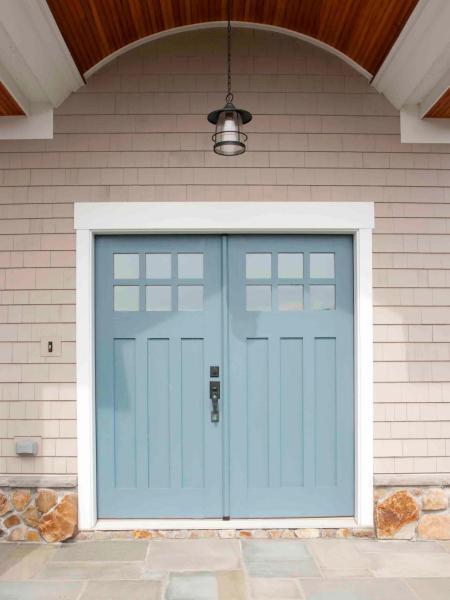 blue door color ideas - Behr Oslo Blue