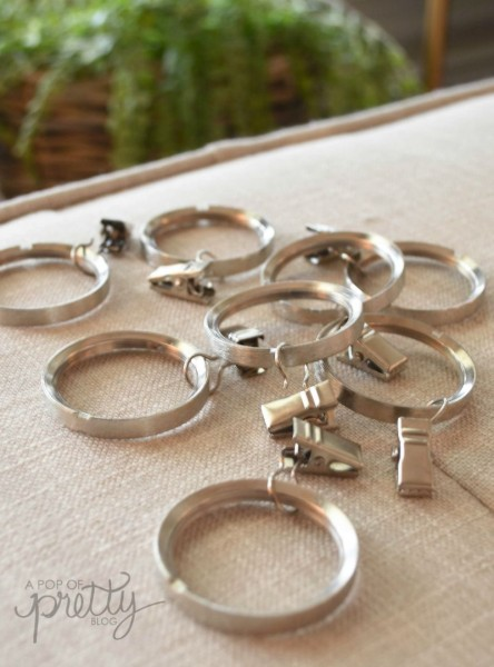 curtain hack - clip rings