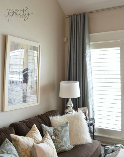 curtain hack - pleated drapes from grommet curtains