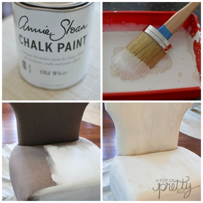 How to paint a fabric chair & How to Paint a Fabric Chair (#MadeItMyOwn) - A Pop of Pretty Blog ...