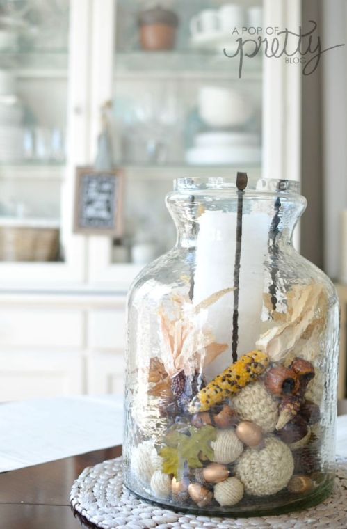 Canadian Bloggers Home Tours - Fall Centrepiece - A Pop of Pretty Blog