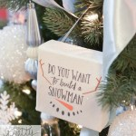 Christmas tree decorating Disney Frozen Theme