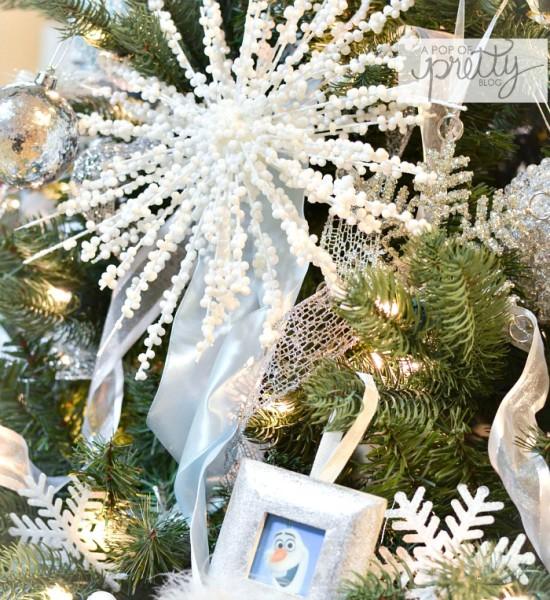 Disney Frozen Christmas Tree snowflake