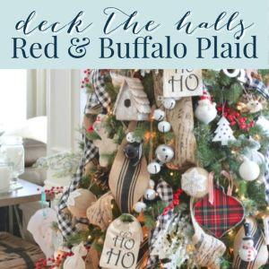 Red Plaid Christmas Decor Home Tour