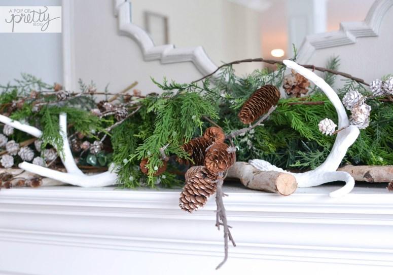 Winter Mantel - antlers